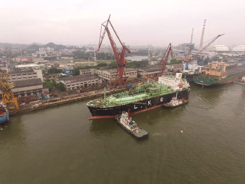 CHI (Guangdong) First Repaired LNG Carrier LUCIA AMBITION. Repairs now begin.