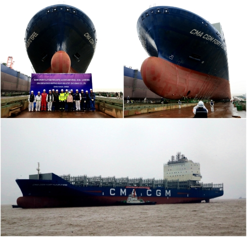 Successful Launching of 3300 TEU Container Vessel
